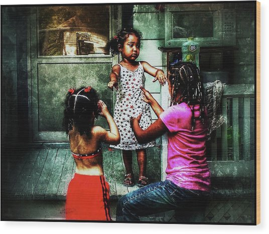 Wood Print featuring the photograph Sisters by Al Harden