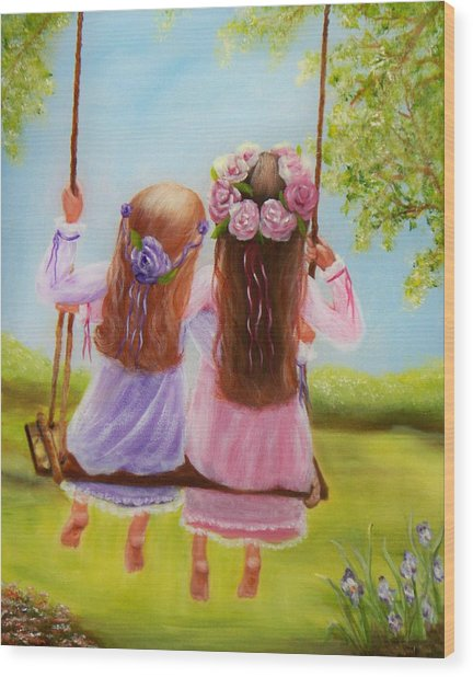 Sisters And Friends Forever Wood Print