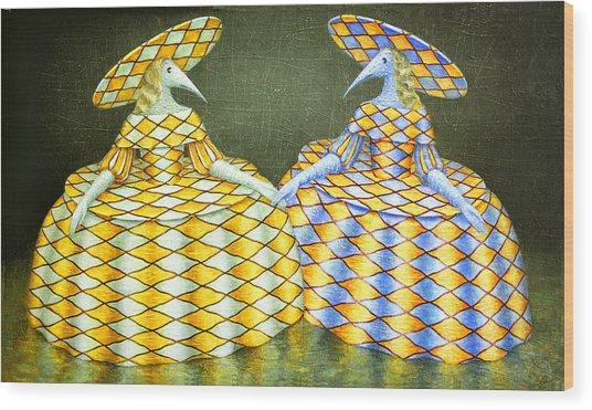 Sisters Wood Print
