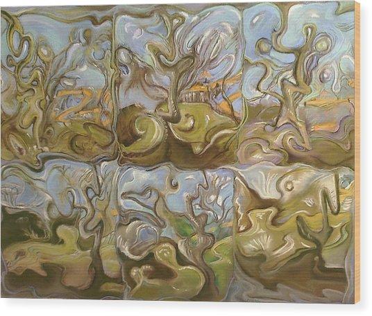 Sittin Dreamin Wood Print by Bob Naramore