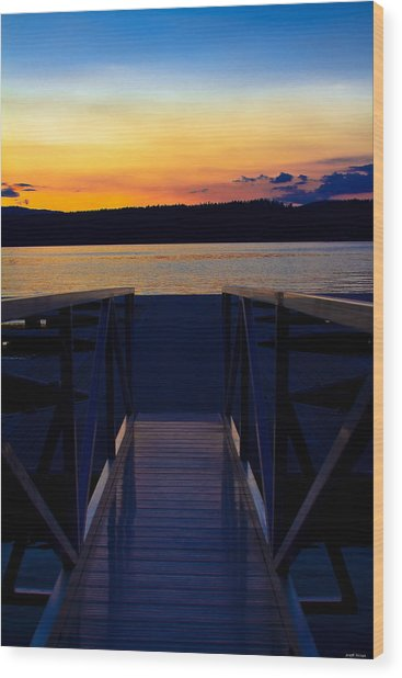 Sitting On The Dock Of A Bay Wood Print
