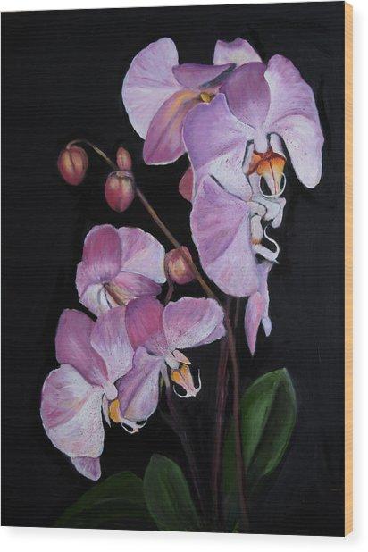 Six Orchids Wood Print