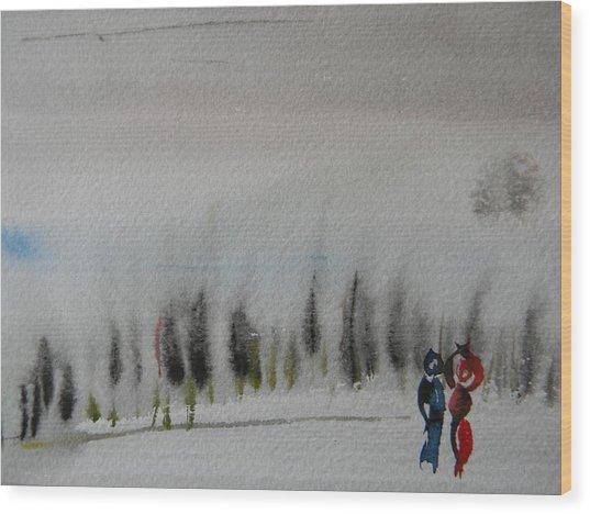 Six Seasons Dance Three Wood Print