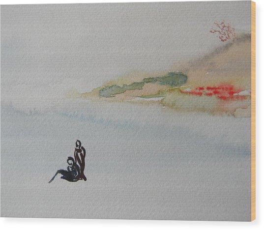 Six Seasons Dance Two Wood Print