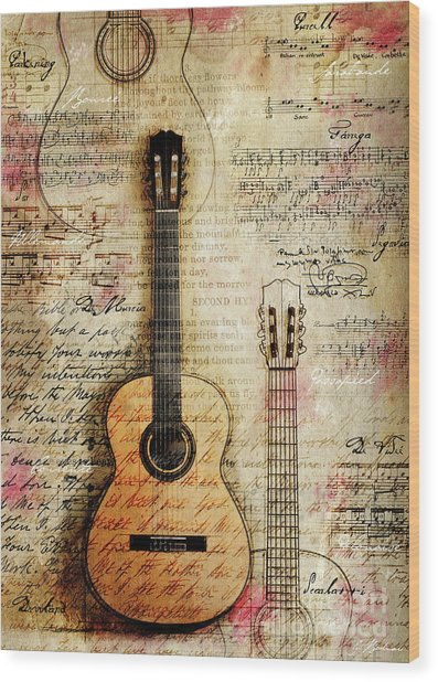 Six String Sages Wood Print