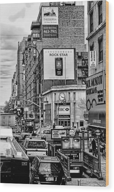 Sixth Avenue Fourteenth Street Sub Station Wood Print