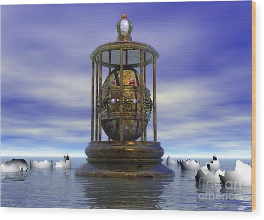 Wood Print featuring the digital art Sixth Sense - Surrealism by Sipo Liimatainen