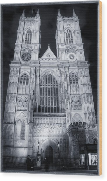 Westminster Abbey Night Wood Print