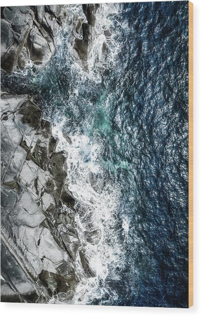 Skagerrak Coastline - Aerial Photography Wood Print