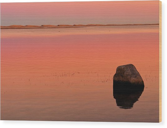Skaket Beach Sunset 1 Wood Print