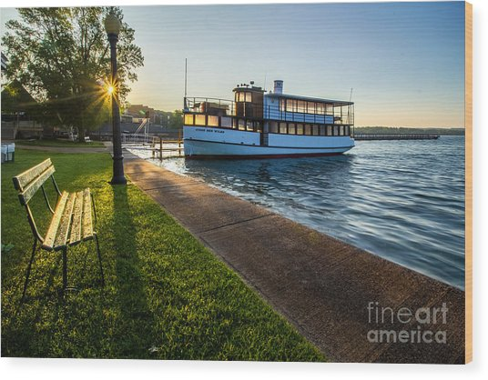 Skaneateles Lake Sunrise Wood Print