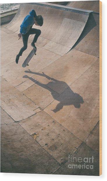 Skater Boy 001 Wood Print
