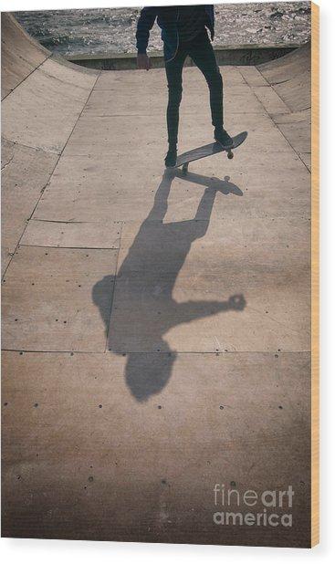 Skater Boy 002 Wood Print