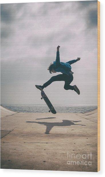 Skater Boy 003 Wood Print