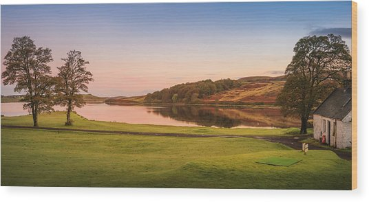 Skeabost House Hotel Golf Course Wood Print