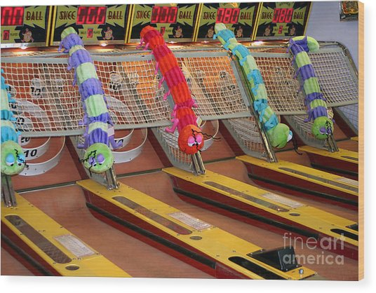Skee Ball Lanes Wood Print