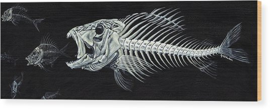 Skeletail Wood Print