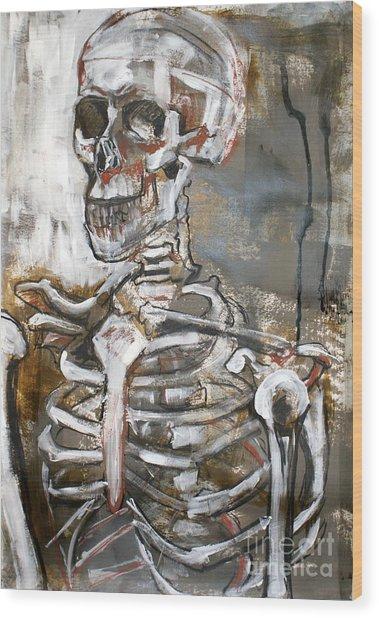 Skeleton 1 Wood Print