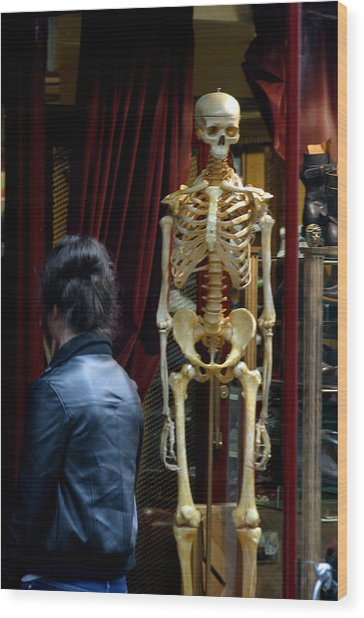 Skeleton Staff Wood Print by Jez C Self