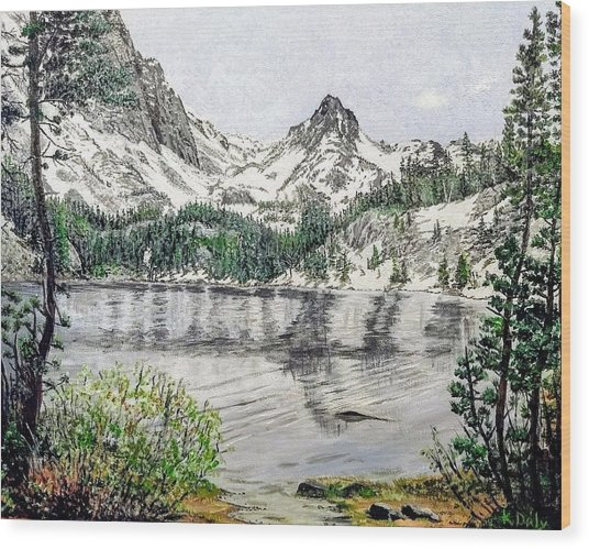 Skelton Lake Wood Print