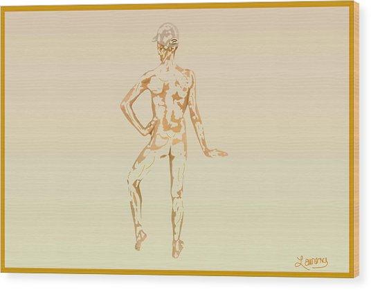 Sketch Of A Male Wood Print