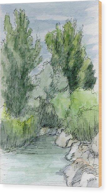Sketchbook 040 Wood Print