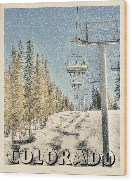 Ski Colorado Wood Print