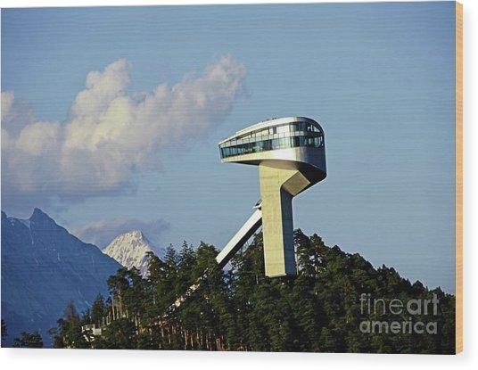 Ski Jumping Tower At Bergisel Innsbruck Austria Wood Print