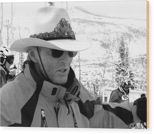 Ski Legend Billy Kidd Wood Print