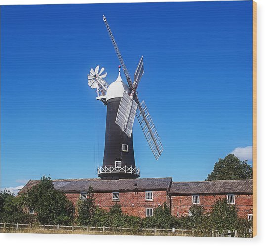 Skidby Mill East Yorkshire England Wood Print