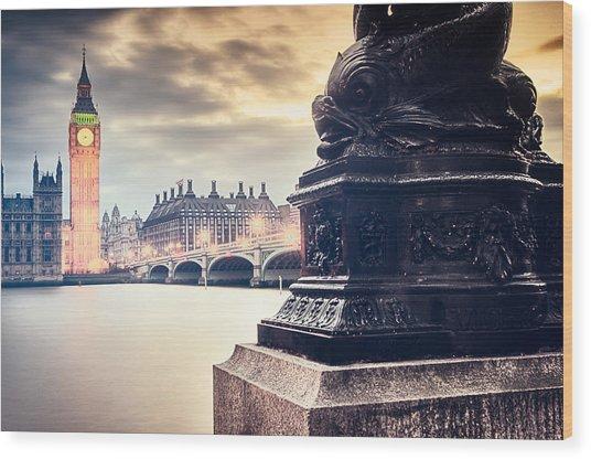 Skies Over London Wood Print