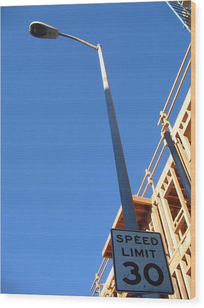 Skies The Limit Wood Print by Ricky Sencion