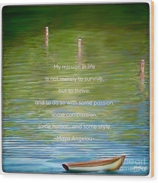 Skiff Boat Quote Wood Print