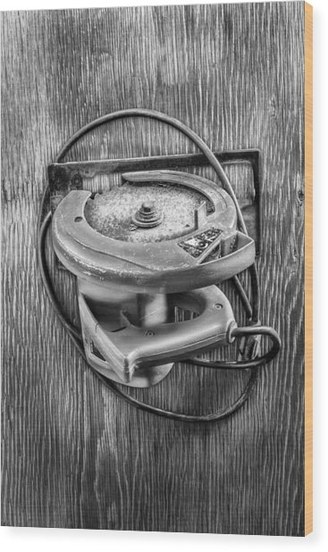 Skilsaw Side Wood Print