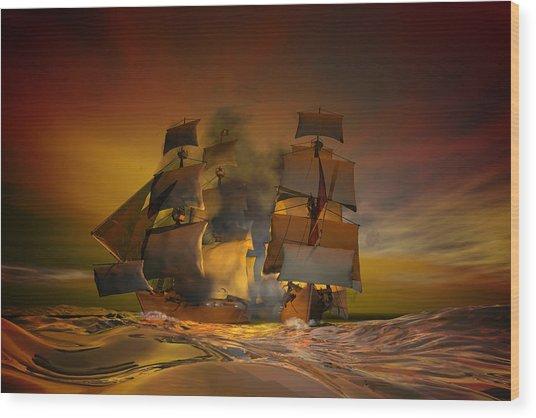 Skirmish Wood Print