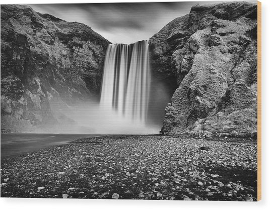 Wood Print featuring the photograph Skogafoss by James Billings