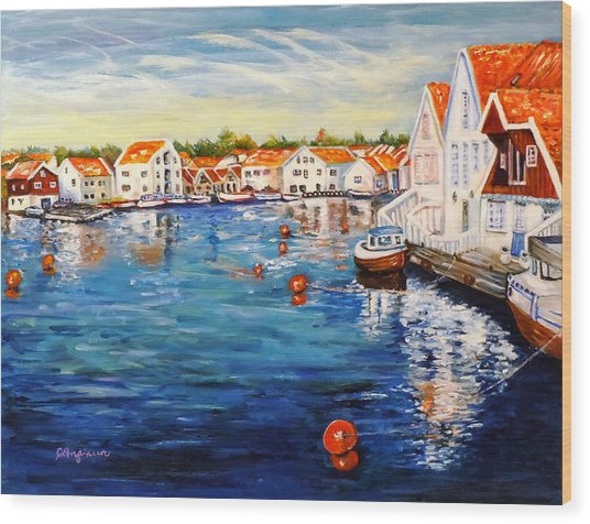 Skudeneshavn Norway Wood Print
