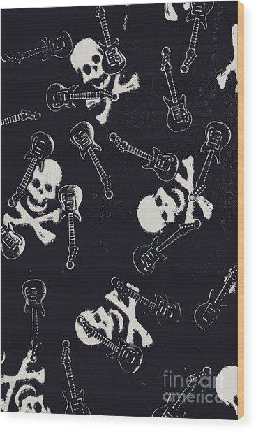 Skull Rockers Art Wood Print