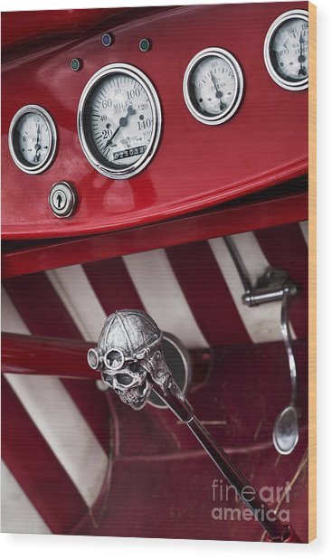 Skull Shifter Wood Print by Tim Gainey
