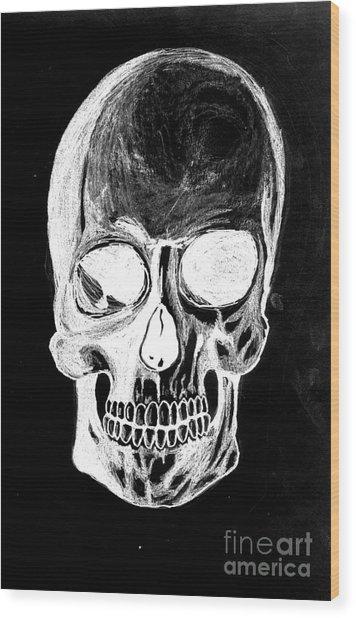Skull Study 3 Wood Print