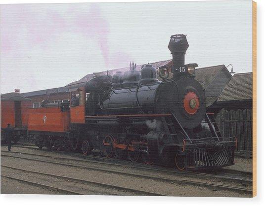 Skunk Train No 45 Fort Bragg California Wood Print