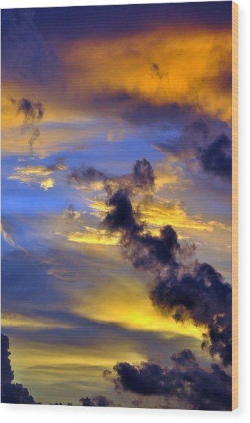 Sky At Sunset Wood Print