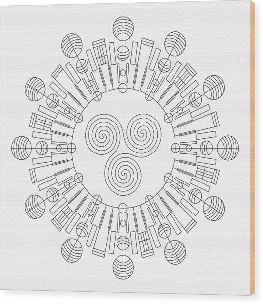 Sky Chief Wood Print