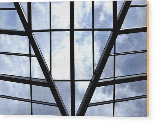 Sky Grid Wood Print