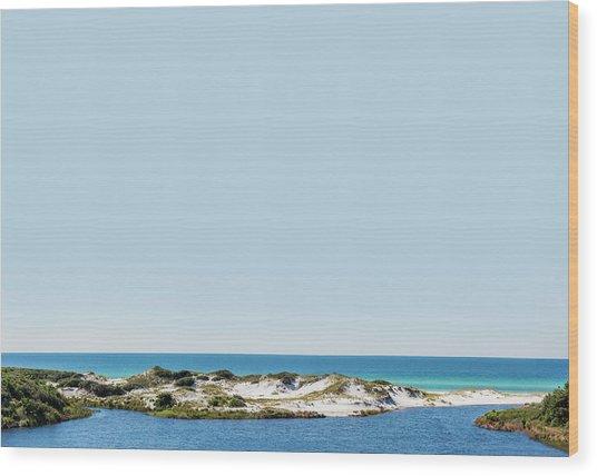 Sky Gulf Dunes Lake Wood Print
