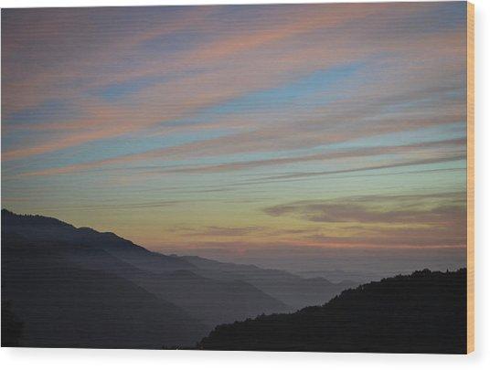 Sky Haze Wood Print