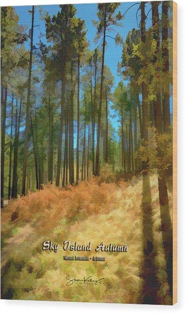Sky Island Autumn Wood Print