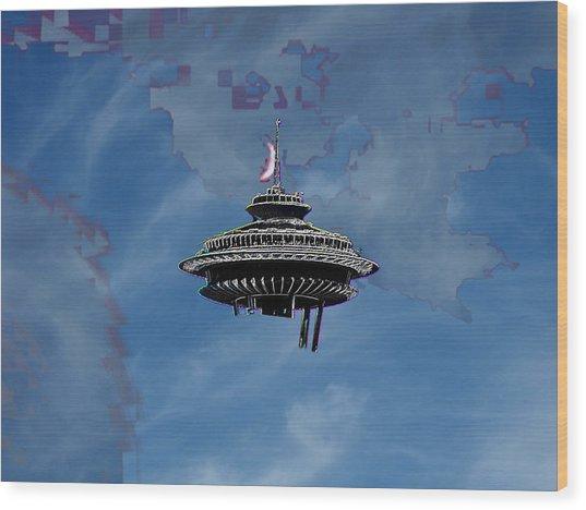 Sky Needle Wood Print