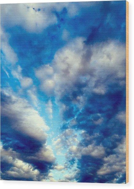 sky Wood Print by Niki Mastromonaco