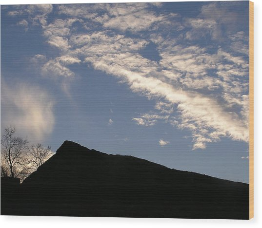 Sky Over Ft. Negley Wood Print by Randy Muir